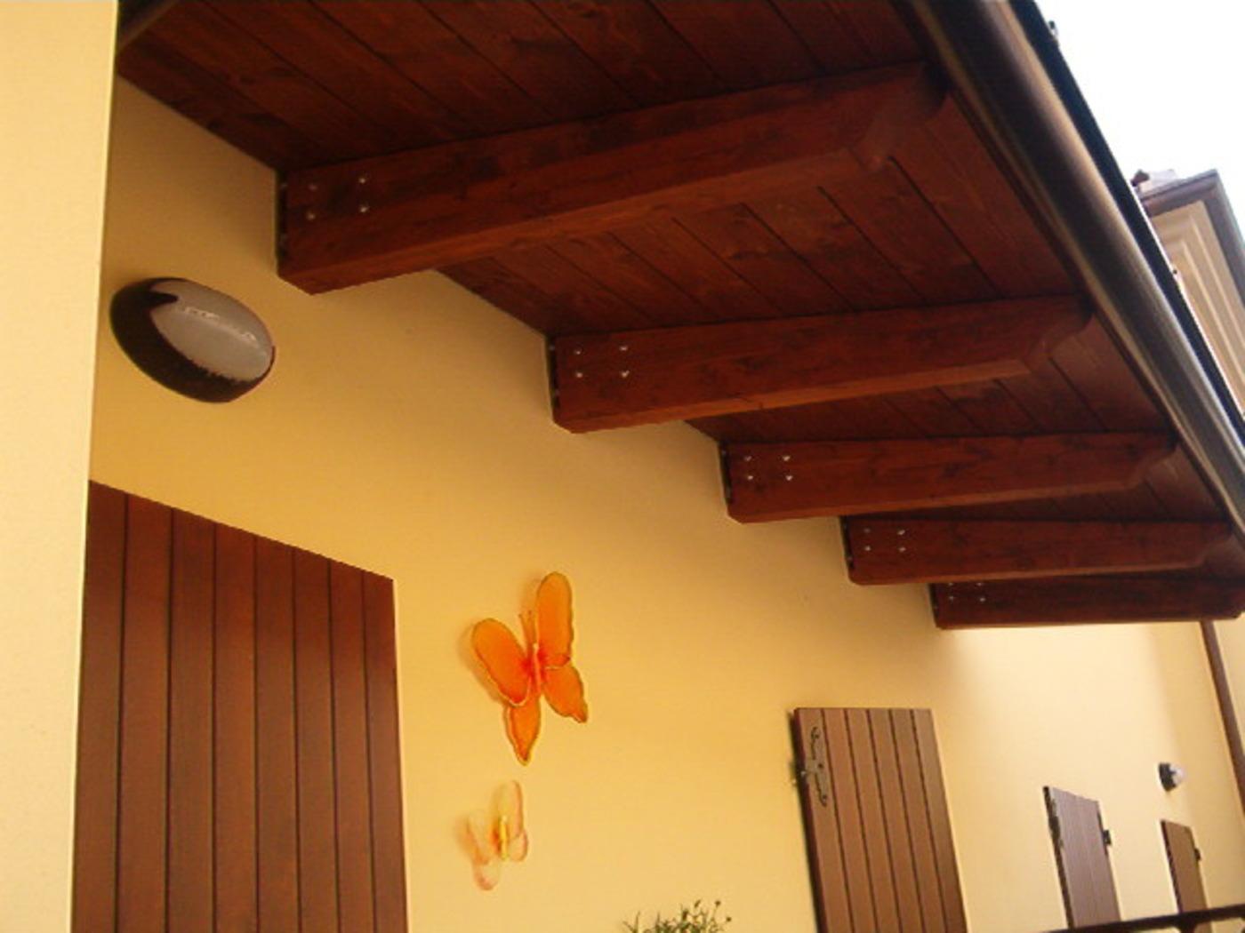 Colori Tetti Legno Lamellare pensiline in legno lamellare | bettini tende
